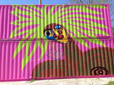 Cleaster Cotton Mural